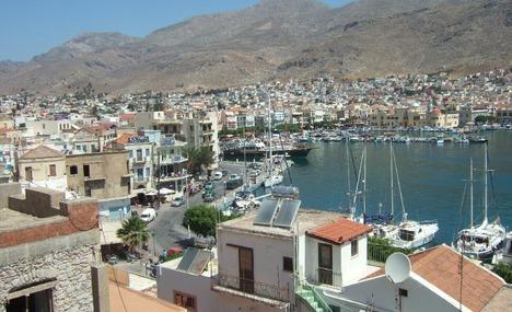 View of Kalymnos harbor.