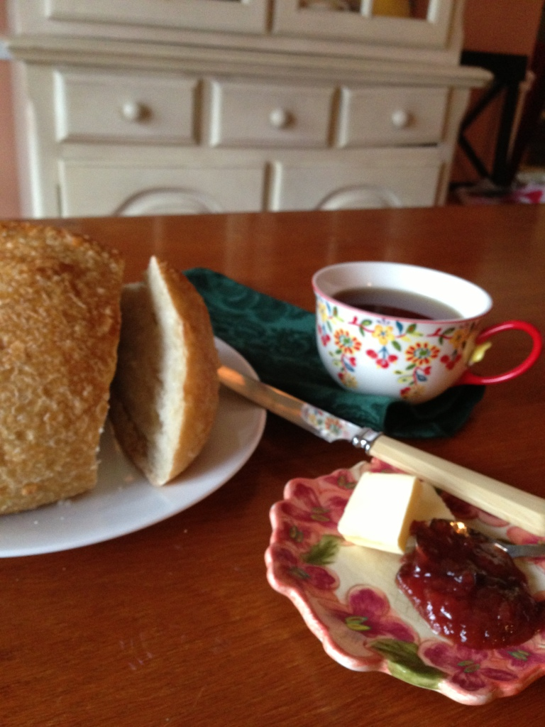 Oolong tea, sourdough and the perfect jam.